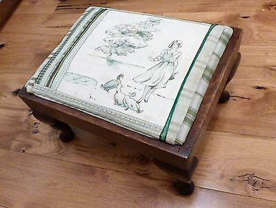 Antique Footstool - Good size