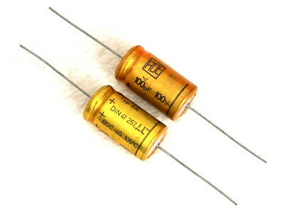 2X Nos Roe Gold Egc Din41257 100Uf 100V Hi-End Long Life Tube Amp Caps For Audio