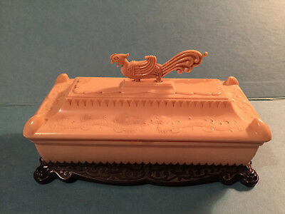 Vintage Chinese Dragon  Plastic Trinket Box