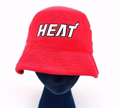 Miami Heat Scarlet Red Black White Mitchell & Ness Terry Reef Bucket Hat