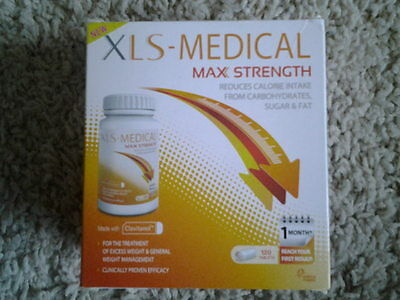 XLS MEDICAL Max Strength, Weight Loss 120 Tablets ,1Months Supply.