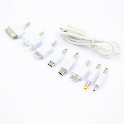 1set USB to 10pcs DC Power Plug Charger Adapter Cable Kit BU for Mobile Use++