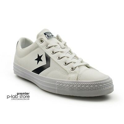 b5bcd228a20f81 Converse Star Player Classic White Navy Canvas Mens Trainers New on Sale