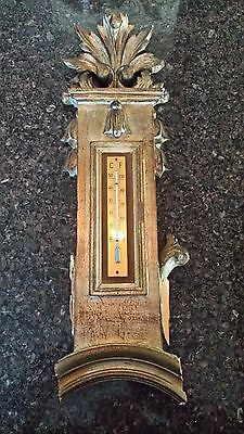 Carved Wood Italian Thermometer, Architectural Salvage