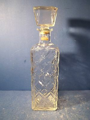 Vintage Clear Glass Decanter Barware With Stopper