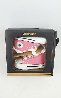 Converse Baby Girl Crib Shoes Pink Age 0-3 Months UK Size 1 Brand New In Box