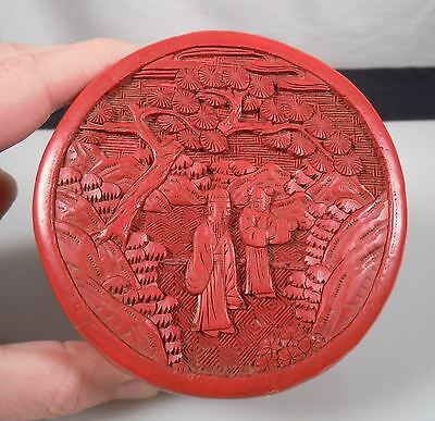 Chinese Red Lacquer Cinnabar Box
