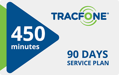 Tracfone 450 mins 90 day TRIPLE 1350 mins NOW Best price