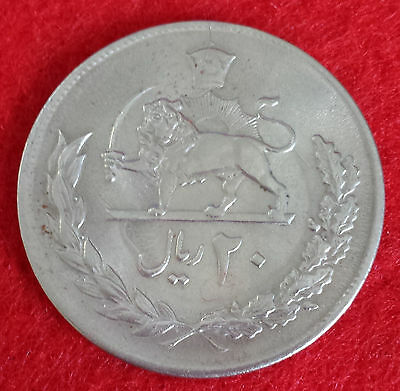 ***20 Rials Shah Persia Mint Condition Vintage 1977(1356) Big Coin***