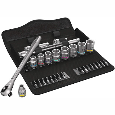 Wera 05004050001 8100 SB 10 Zyklop Imperial Metal Ratchet Set with Push-Through