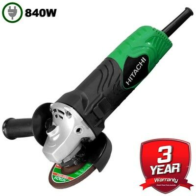 "Hitachi Angle Grinder 840W 100mm (4"") Power Corded G10SN(H1) New Australian Stoc"