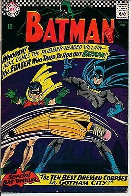 BATMAN 188 (Dec 1966) comic posted free with any other purchase from my listings