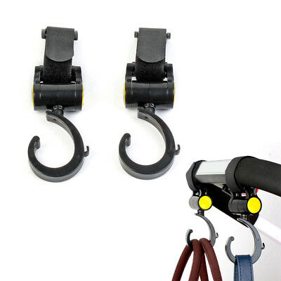 2Pcs Baby Pram Stroller Swivel Hanger Hooks Stroller Accessories Baby Carriage