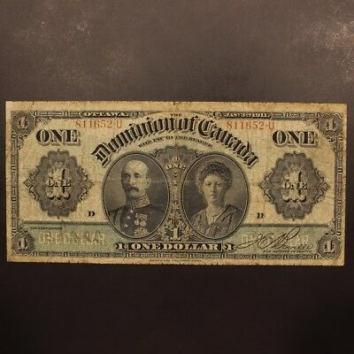 Canada Dollar 3.1.1911 DC-18d-i Boville Series U Banknote VG+