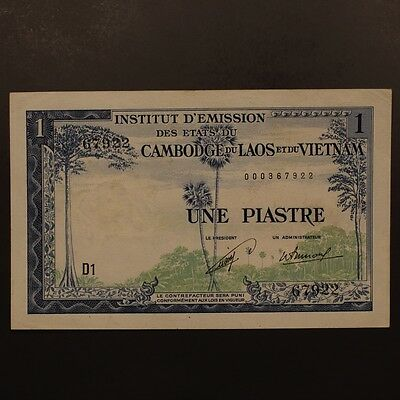 French Indo China Piastre ND(1954) P#100 Banknote ChAU