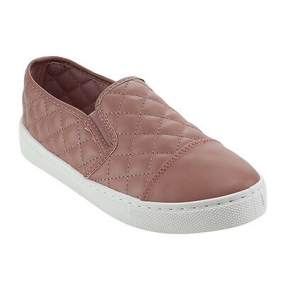 Women's Comfort Slip On Quilted Sneakers MAUVE Size 7