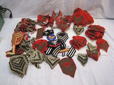 HUGE Lot Of Vintage USMC Marines Military Insignia Patches - WWII - Vietnam Era