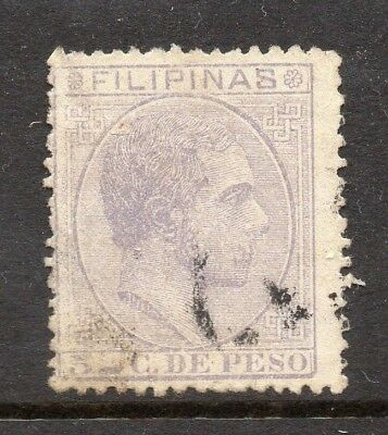 Philippines 1880s Classic Alfonso Used Value 5c. 182425