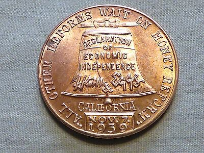 1939 National Campaign Committee Ham & Eggs Political Reform Token - Item 243