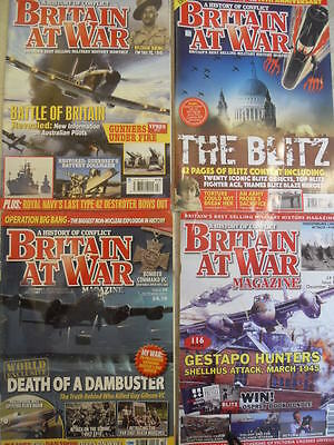 Britain at War Magazine 4 Issues Various Dates 2010 - 2015