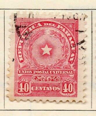 Paraguay 1913 Early Issue Fine Used 40c. 181468