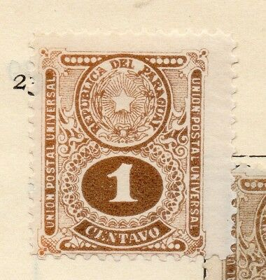 Paraguay 1910 Early Issue Fine Mint Hinged 1c. 181449