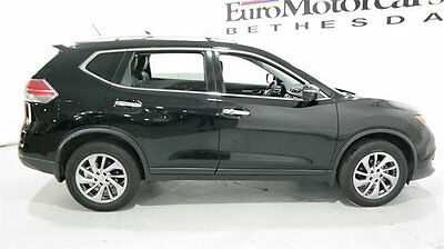 2015 Nissan Rogue  Nissan Rogue Low Miles 4 dr SUV CVT Gasoline 2.5L 4 Cyl Black