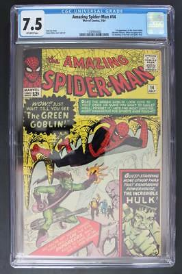 Amazing Spider-Man #14 - CGC 7.5 VF- Marvel 1964 - 1st App of The Green Goblin!