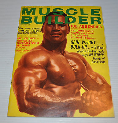 -MUSCLE BUILDER Physical Fitness Magazine feb. 1965 ARTHUR HARRIS cover-