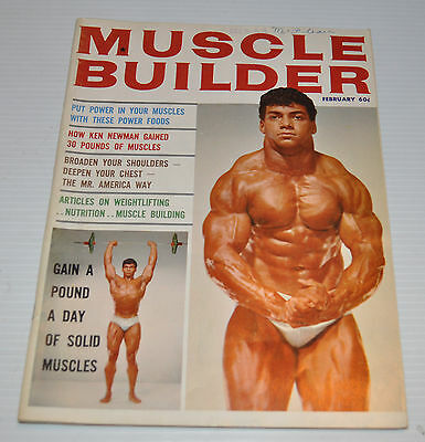 -MUSCLE BUILDER Physical Fitness Magazine feb. 1964 HAROLD POOLE cover-