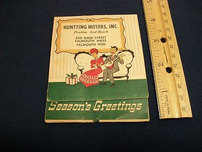 advertising matches Huntting Motors, Inc. Falmouth, Mass