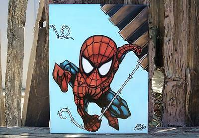 Spiderman Art handmade painting on canvas