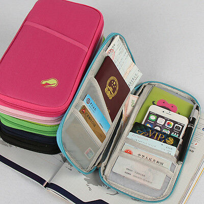 New Travel Wallet Passport Holder Document Organiser Bag Ticket Credit Card Case