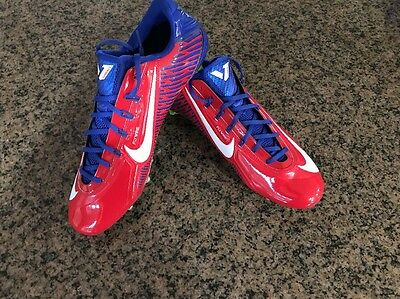 Nike Vapor Carbon Elite 2.0 2014 TD Football Cleats Red Blue 657441-604 NEW