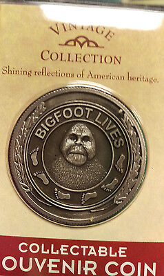 Bigfoot Lives Souvenir Coin token with engraving & Pewter Emblem New in pkg NICE