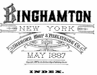 Binghamton,  New York~Sanborn Map©sheets~~18 full size maps made in 1887