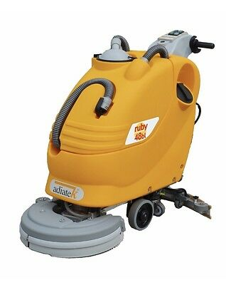 Adiatek Ruby 48bl Floor Scrubbing Machine, Battery Operated. Free Shipping