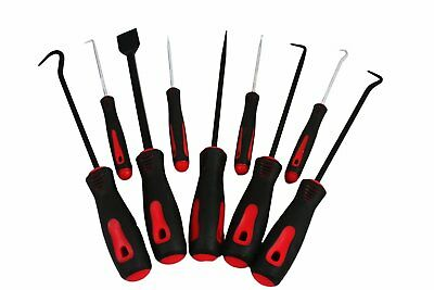 "ABN Precision Scraper Hook and Pick 9-Piece Set 6.5"" Inch and 10"" Inch Tools"