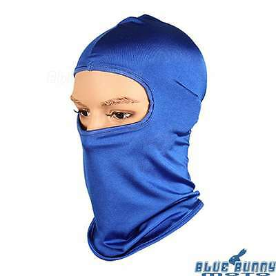 Blue Outdoor Full Face Mask Neck Protector Ski Cycling Hat Cap Biker Balaclava