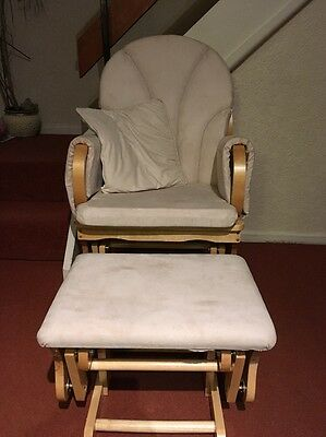 Nursing (rocking) chair and footstool