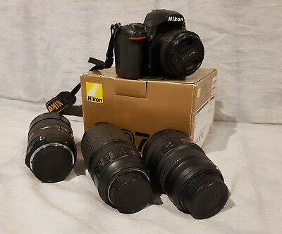 Nikon D750 24.3 MP Digital SLR Camera with 4 lenses