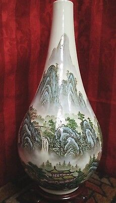 Mid-Century (20th C.) Vintage 1950s-1970s Chinese Quain Jiang Porcelain Vase