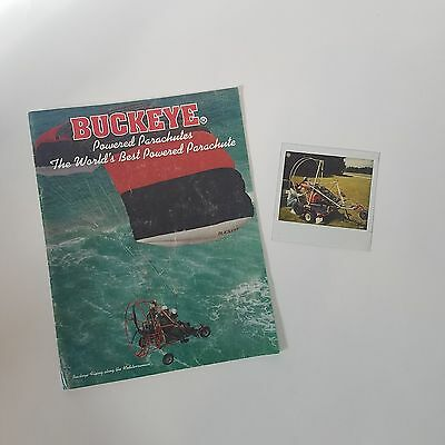 Vintage Buckeye Powered Parachutes Advertisement catalog w/ Poloroid picture lot