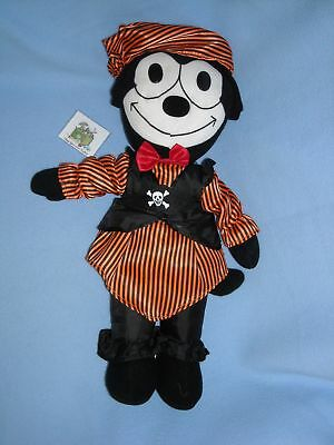 "16"" FELIX the CAT in PIRATE OUTFIT 2003 TOY WORKS STUFFED ANIMAL PLUSH HALLOWEEN"