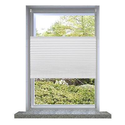 S#Roller Blind Blackout 50x150cm White Daynight Sunscreen Pleated Window Blinds