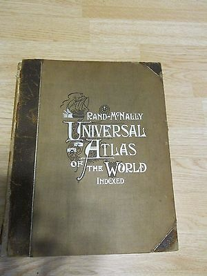 Rand-McNally Universal Atlas of the World 1900 maps Indexed