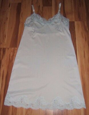 Vtg Shadowline Pale Blue Full Slip Sz 36