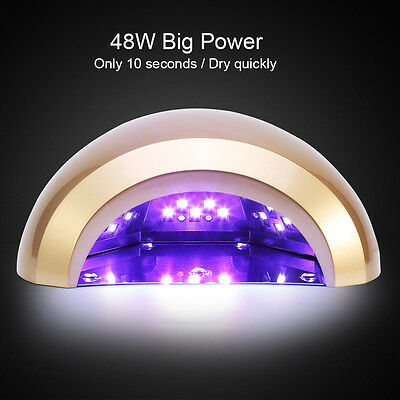 48W LED Nail Curing Lamp UV Gel Dryer Light Timer For Nail Art Gel Polish LY