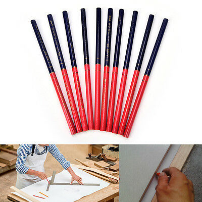 10x HB Double Colors Carpenters Pencils For DIY Builders Joiners Woodworking S6