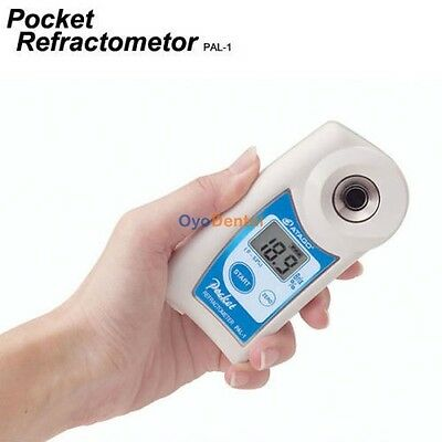 NEW Atago Pocket Refractometer PAL-1 Digital HandHeld Lab Analytical Instruments